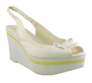 New REPORT Candace WHITE SANDAL Womens Shoe 11 M