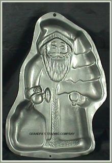 Wilton Old World Santa Claus w Tree Cake Pan Mold 1999 2105 1520 Nice