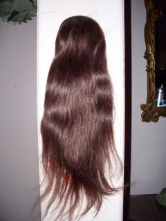 100 Human Hair Wig Wiglet Cascade Pageant Auburn 17 No 33
