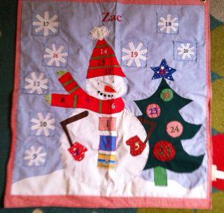 Pottery Barn Kids CHRISTMAS Advent CALENDAR * snowman * ZAC