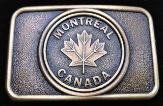 Canada Montreal Maple Leaf Canadian Flag Belt Buckles Boucle de