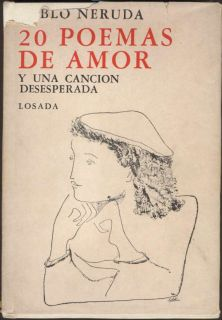Pablo Neruda Book 20 Poemas De Amor Soldi Illustrations 1972 L@@K