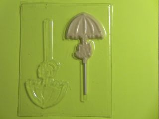 Umbrella with Bow Shower Chocolate Candy Soap Clay Mold