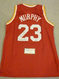 Calvin Murphy Signed Auto Houston Rockets Jersey HOF 93 Tristar