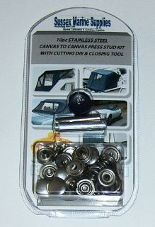 Steel Snap Fastener Repair Kit Canvas Tocanvas Press Stud