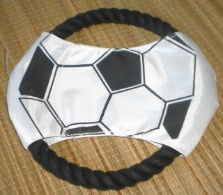 Dog Chew Flying Rope Soccer Ball Frisbee Puppy Throw Fetch Pet Catch