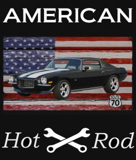 American Hot Rod 70 Chevy Camaro Z28 Back T Shirt
