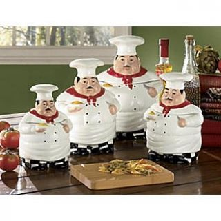 of fat chef kitchen canister set of 4 beautiful fat chef canister