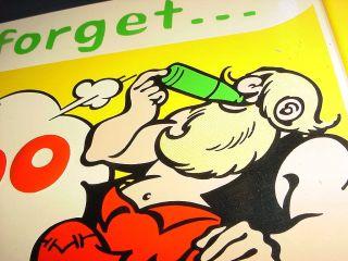 Vintage KICKAPOO Joy Juice Al Capp Comic Lil Abner Tin Sign