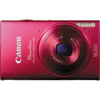 Canon PowerShot ELPH 320 HS Digital Camera Red Brand New USA Warranty