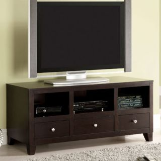 Solid Wood Capulin Espresso Finish Solid Wood TV Stand