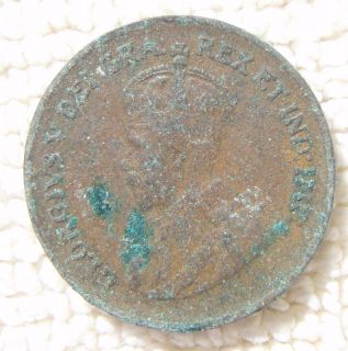 King George V Crown Canada Penny 1 Cent Canadian Coin
