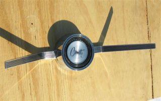 1966 Mercury Comet Caliente Steering Wheel Center Cap Horn Button 1965