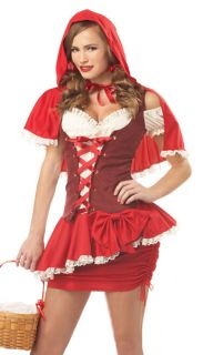 Sexy Little Red Riding Hood Adult Halloween Costume