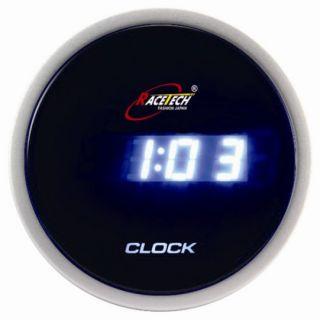 52mm Car Auto Gauge Meter DIGITAL CLOCK TIME BLUE LED LCD 12V