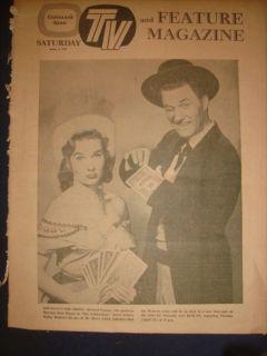 CLEVELAND NEWS TV MAGAZINE THE CALIFORNIANS MITZI GAYNOR 4 APRIL 1959