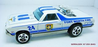 1968 Chevrolet El Camino Fort Worth Fire 1 64 Scale Rep Hot Wheels New