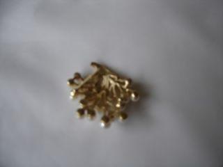 VINTAGE BROOCH PIN GOLD PEARL COSTUME JEWELLERY SUSAN CAPLAN RP£69