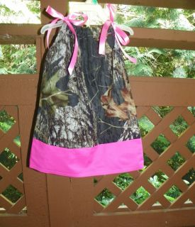 Mossy Oak Camo Camouflage Pillowcase Dress Girl Birthday Back to