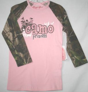 Pink Camo Princess Realtree Camouflage Girls Shirt
