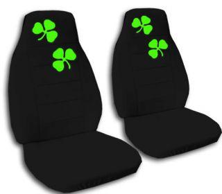 Nice Set Green Shamrock Car Seat Covers
