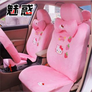 HelloKitty Car Pink Seat Cover Front Rear Back Seat Cover Saddle
