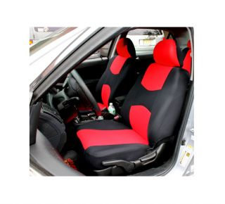 Universal Car Seat Cover Red Color 5 Headrest Cover