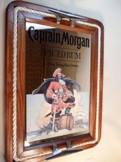 Captain Morgan Glass Advertisement Bar Mirror Sign