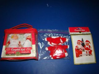 Campbell Soup Kids Twins Set of 2 Dolls Christmas Mr Mrs Santa Claus