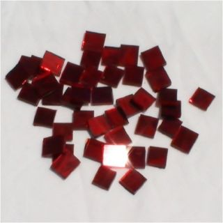 """100 Red Mirror 1 2"""" Square Glass Mosaic Tile Pack"""