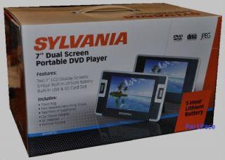 new sylvania dual screen portable dvd player car auto