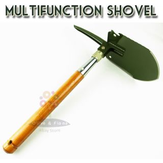 Handle Military Fold Shovel with Nylon Pouch Camping Car Tools