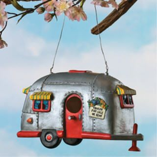 Camper BIRDHOUSE camping trailer bird house RV decor Garden YARD Tree