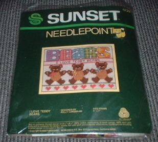 is the i love teddy bears needlepoint kit designed by polly carbonari