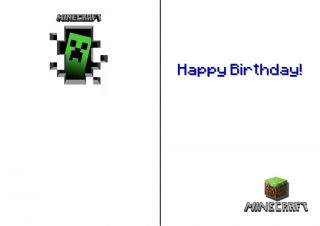 Minecraft Personalised Birthday Card Keep Calm Many Variations Large