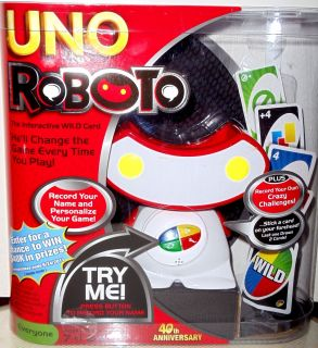 New Uno Roboto Card Game by Mattel