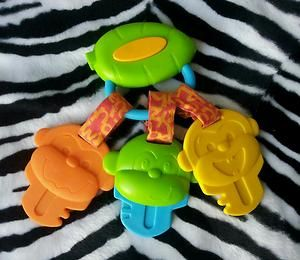 Baby Musical Monkey Key Teether Toy Car Seat Stroller Crib Toy RARE