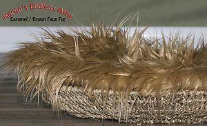Fur Caramel Brown 18 x 30 Photography Prop Newborn Baby Nest