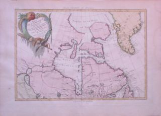 Canada Great Lakes Greenland 1776 Bonne Full Color Nice