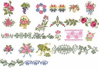 Janome Embroidery Card 131 Cross Stitch Border Designs