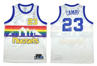 Marcus Camby HWC Throwback Denver Nuggets Jersey New M