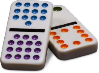 Cardinal Industries Double Fifteen Color Dot Dominoes in A Collectors