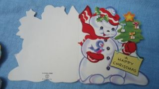 Childrens Christmas Cards A Meri Card Santa Cat Dog Kids