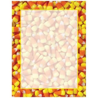 Candy Corn Orange Halloween Computer Laser Inkjet Printer Flyer Paper