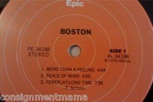 VINTAGE 1976 BOSTON 33 1 3 Vinyl RECORD ALBUM EUC