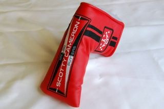 New Scotty Cameron Custom Shop Milled Putter Golf Head Cover Red