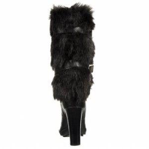 Michael Kors $274 New Carlie Leather Fur Boots 5 5 Logo Charm