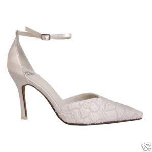 Carlo Fellini White Bridal Wedding Denise Heel Leather