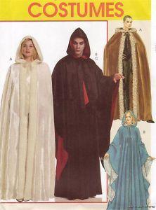 Goth Gothic Vampire Dracula Cape Cloak Sewing Pattern