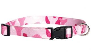 Camo Camouflage Dog Collar Nylon Guardian Gear Pet Collar Green Pink